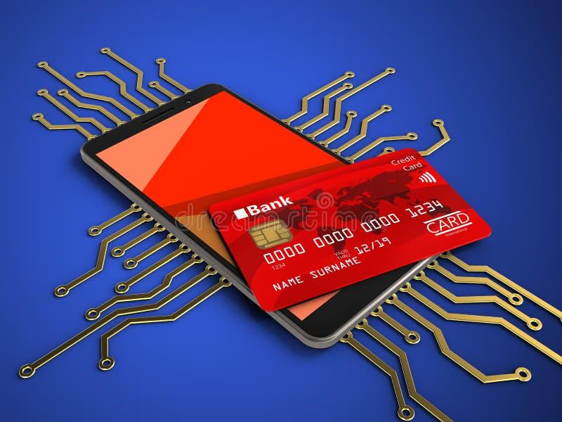 circuito electrónico 3D foto de archivo libre de regalías