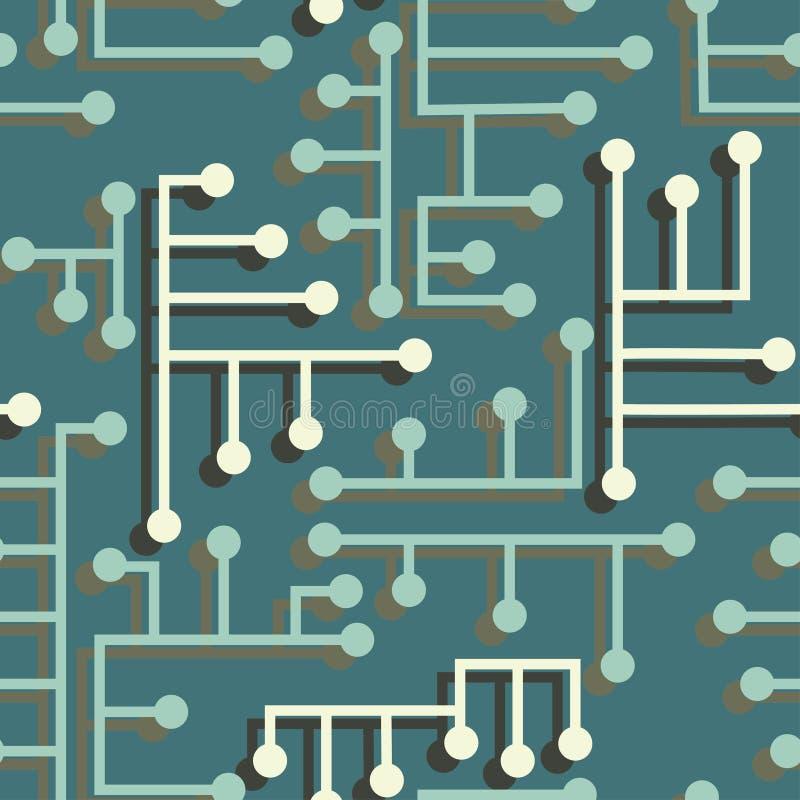 Circuito electrónico inconsútil libre illustration