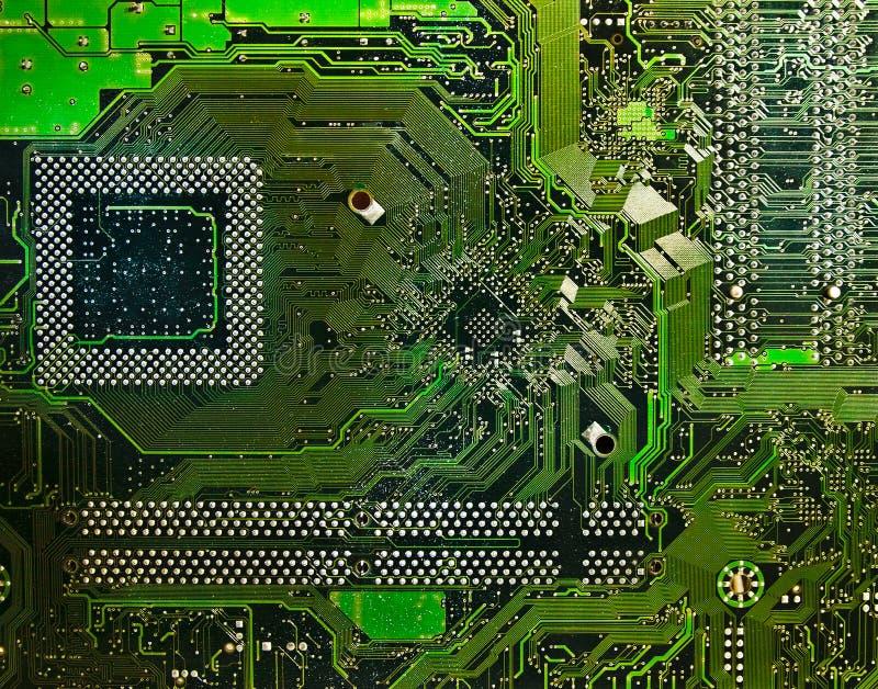 Circuito eletrônico do computador foto de stock