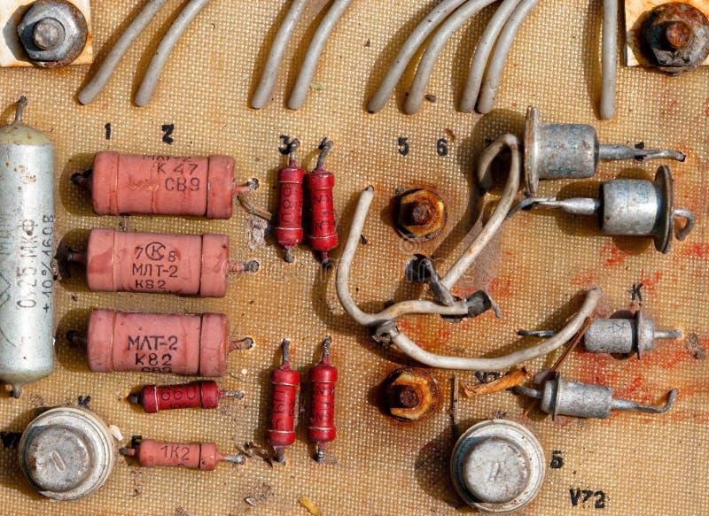 Circuito eletrônico velho fotos de stock