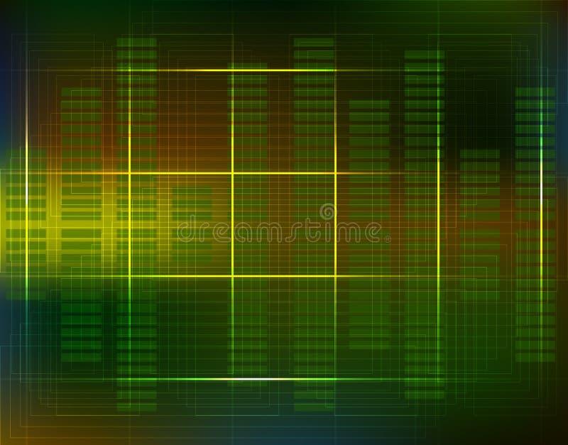 Circuito elettronico del fondo di tecnologia di schema del computer Futuri illustrazione di stock