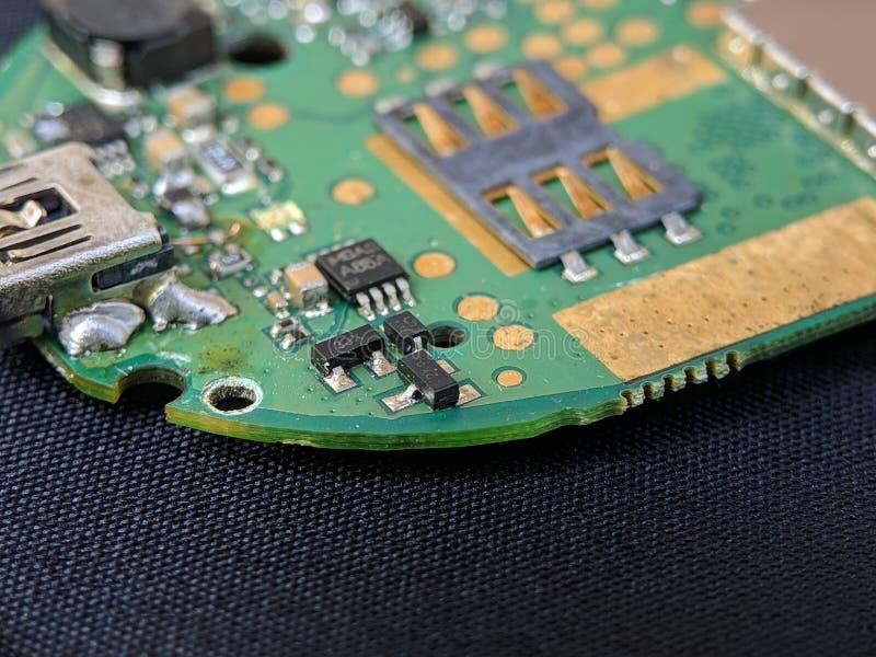 Circuito elettronico, circuito integrato IC, usato per la carta da parati, usato come libro illustrato immagine stock libera da diritti