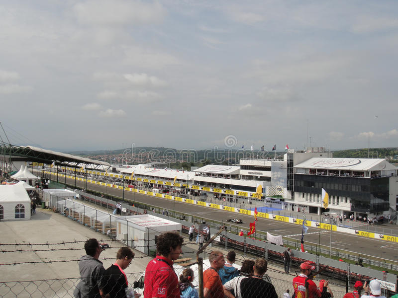 Circuito F1 imagens de stock royalty free