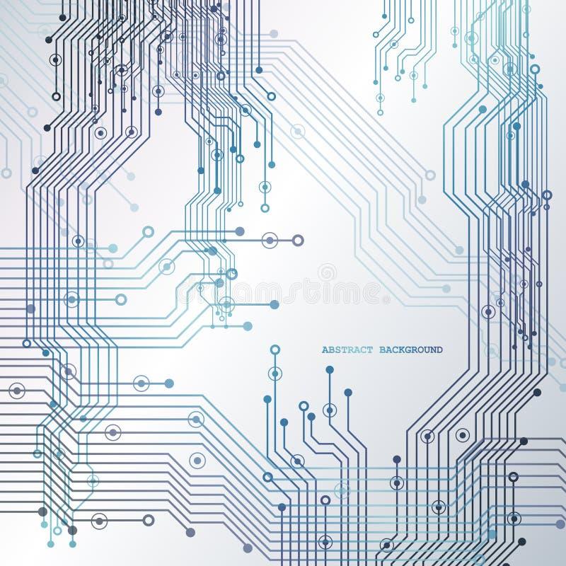 Circuito, fondo di tecnologia Illustrazione di vettore illustrazione di stock