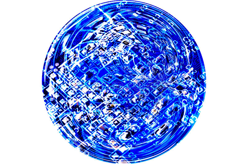 Circuito futurista abstracto de la tecnología fotografía de archivo