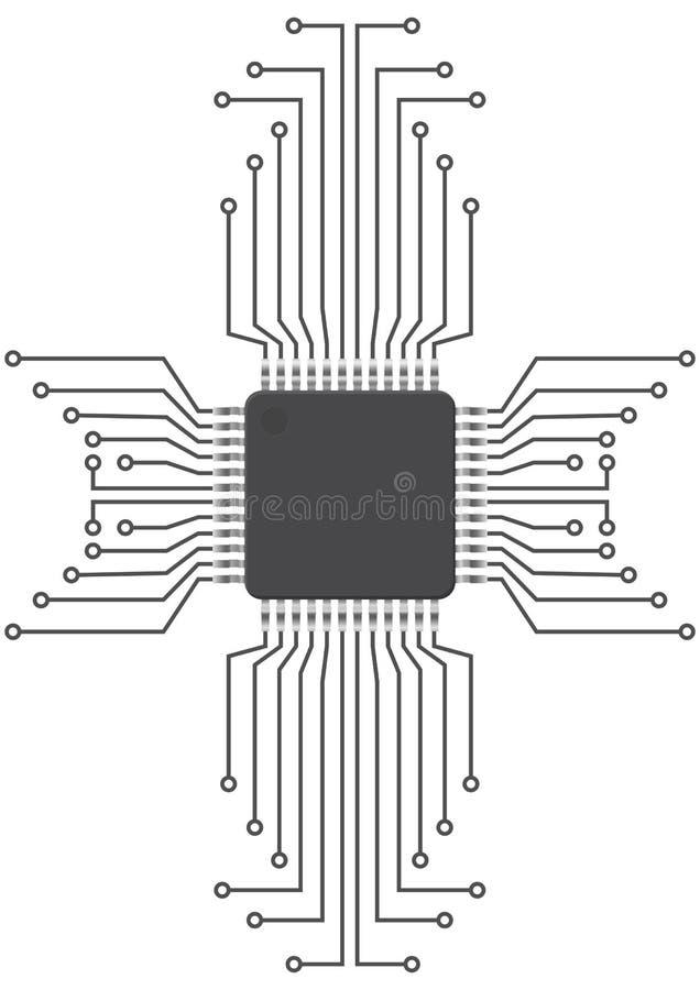 Circuito integrado ilustração stock