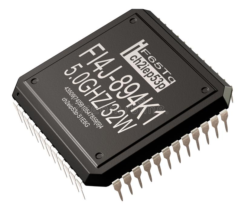 Circuito integrato delle parti dell'elaboratore digitale Intelligenza artificiale del micro chip illustrazione vettoriale