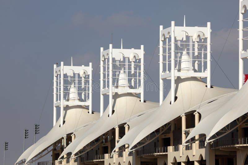 Circuito internacional de Barém em Manama imagem de stock