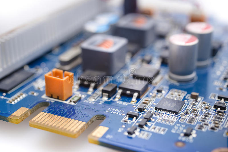 Circuito microelettronico fotografia stock