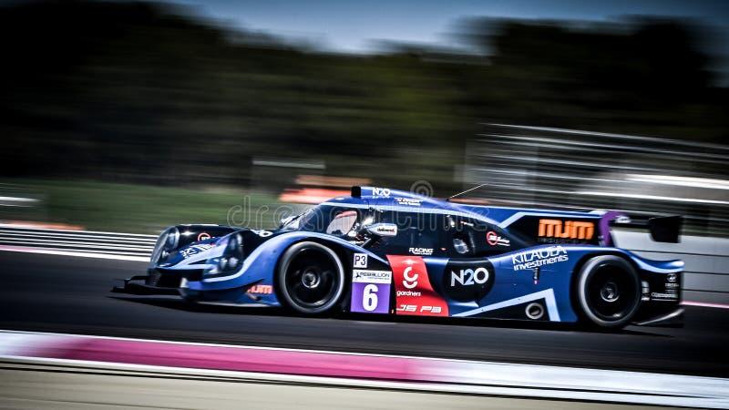 Circuito Paul Ricard, Francia, el 13-14 de abril de 2019, 4 horas de Castellet, serie de Europeran Le Mans, LMP3 N°6 - Ligier Nis imagenes de archivo