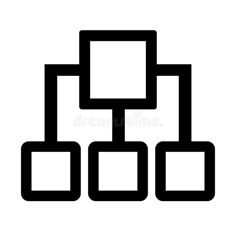 Circuito simples e linear sob a forma dos quadrados Generalização, algoritmo, programando ilustração stock