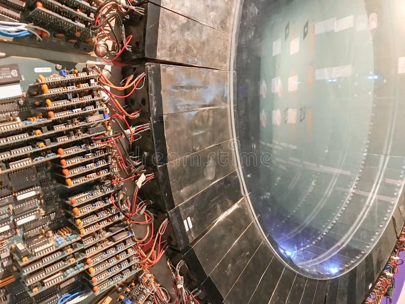 Circuitos da máquina da ressonância magnética (MRI) foto de stock
