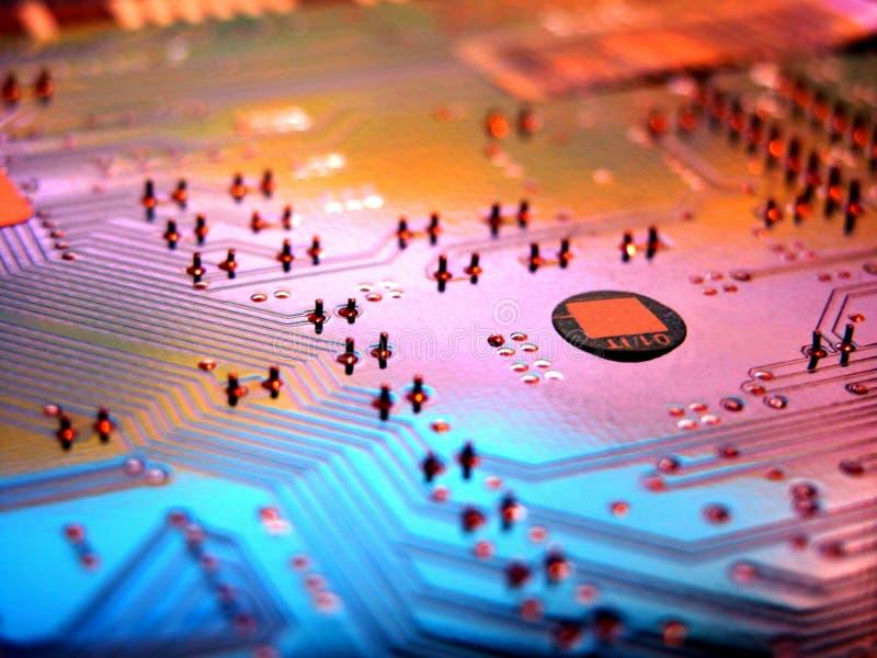 Circuitos de un ordenador imagen de archivo