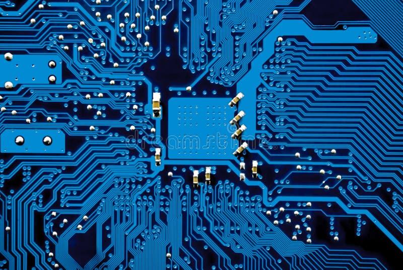 Circuitos del mainboard del ordenador imagen de archivo
