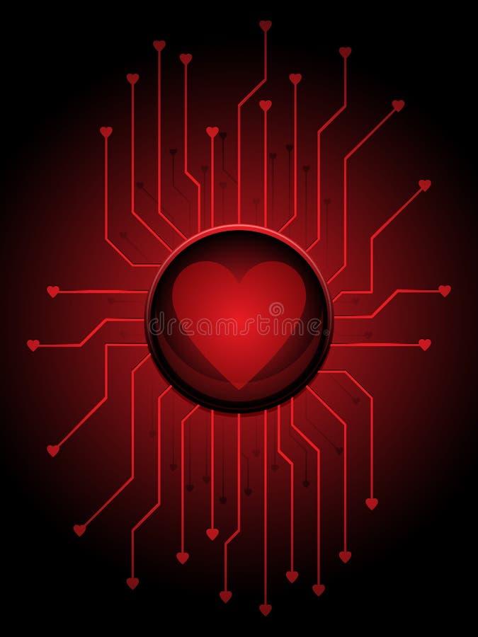 circuitry miłość royalty ilustracja