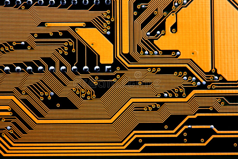 circuits datormoderkortet arkivbild