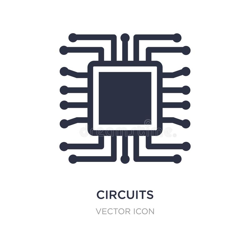 circuits icon on white background. Simple element illustration from Hardware concept vector illustration