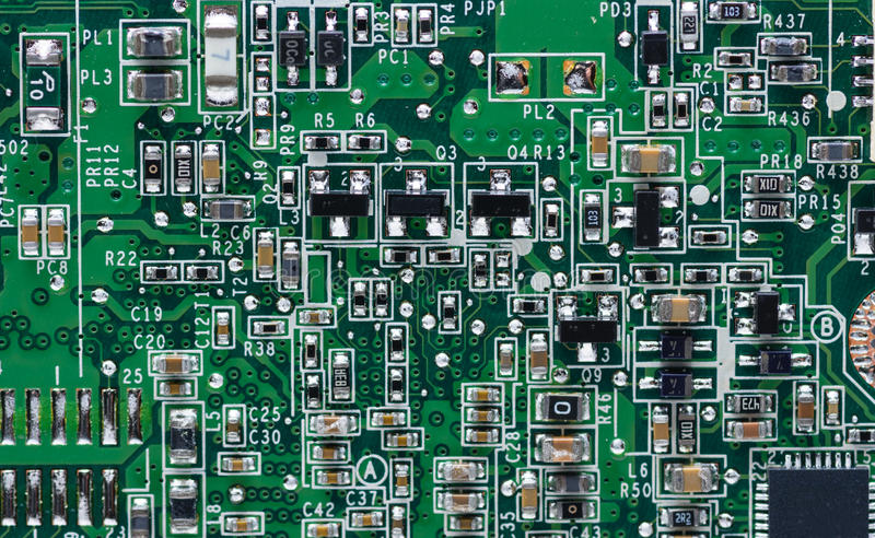 Download Circuits On Laptop Motherboard Stock Image - Image of abstract, circuit: 91882813