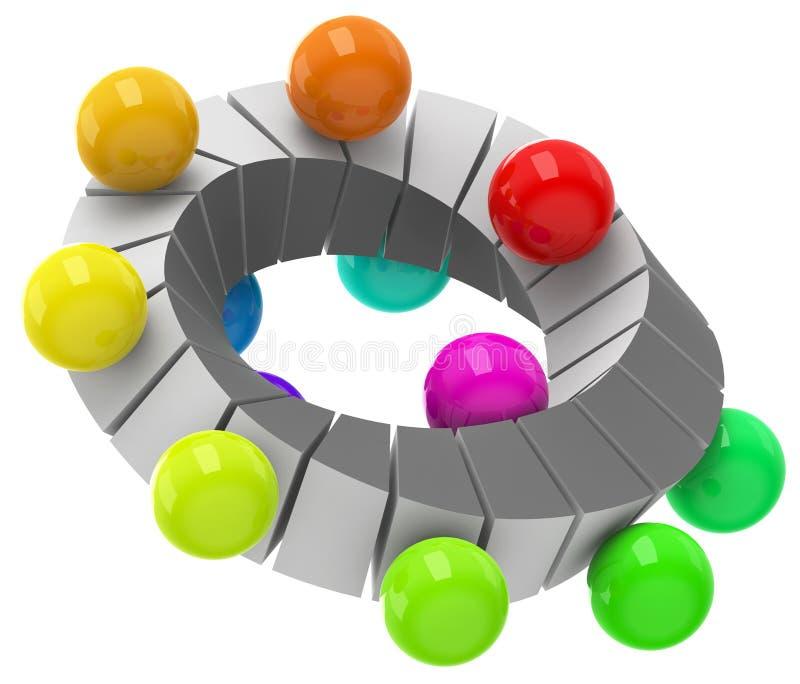 Circulação colorida ilustração do vetor