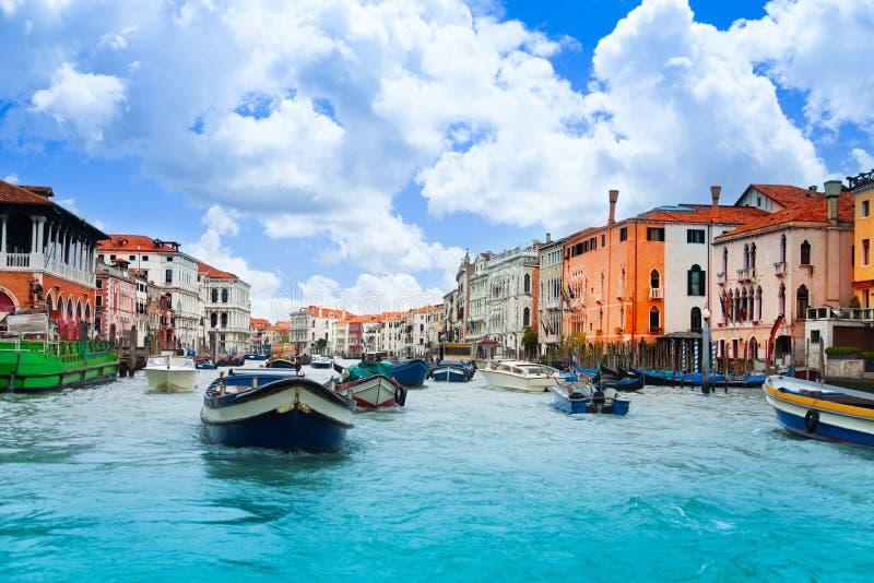 Circulación densa de Venecia fotografía de archivo