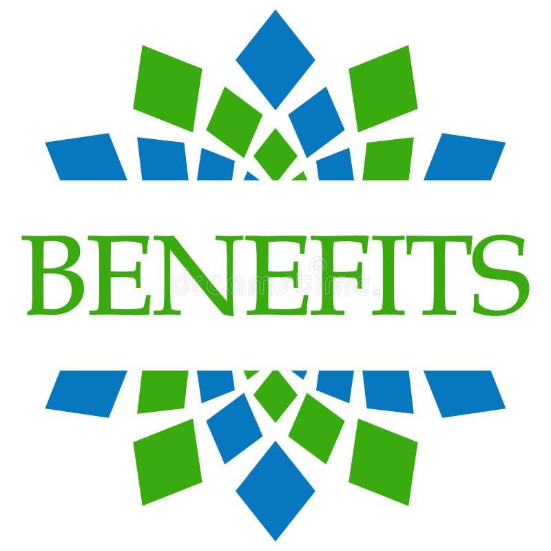 Circulaire vert-bleu d'avantages illustration libre de droits