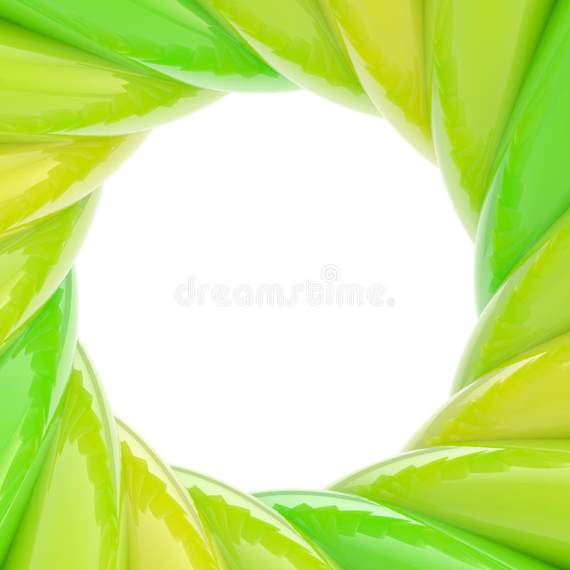 Circular abstract frame made of wavy elements stock illustration