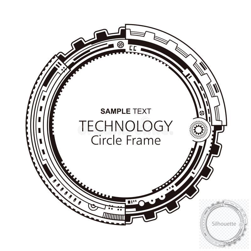 Circular Abstract Technology Frame stock illustration