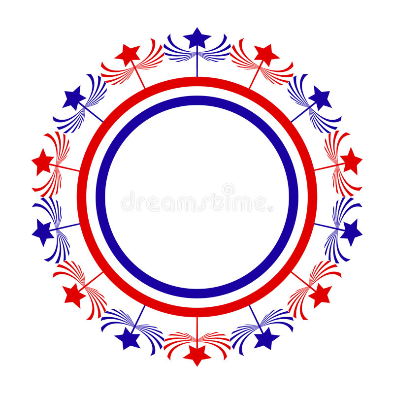 Circular Abtract With Stars royalty free stock image