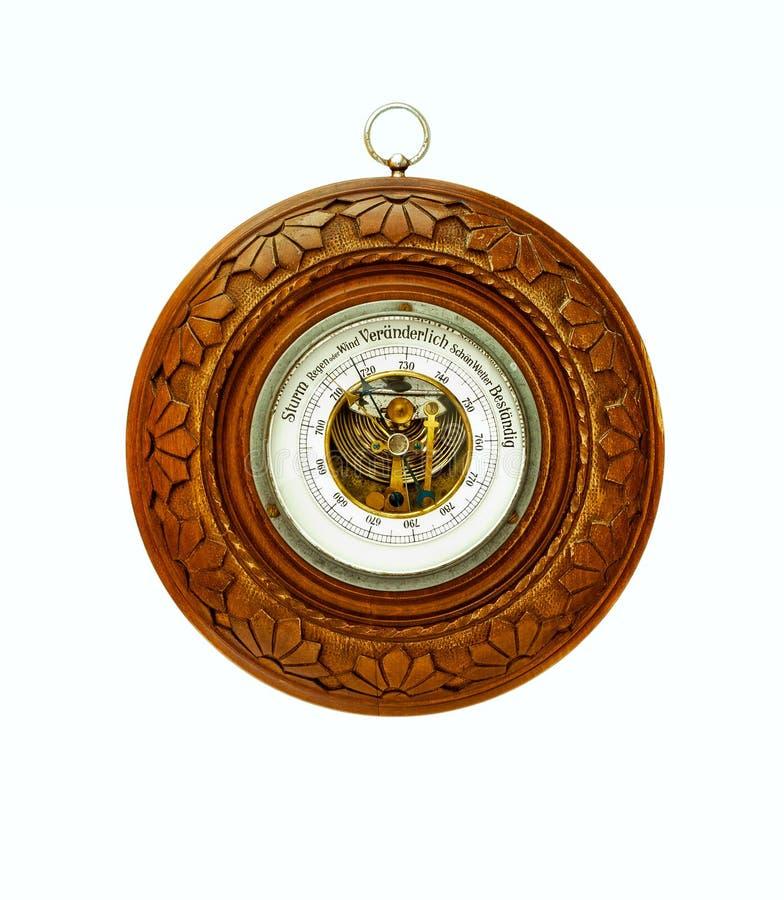 Circular antigua barómetro-aislada imagen de archivo libre de regalías