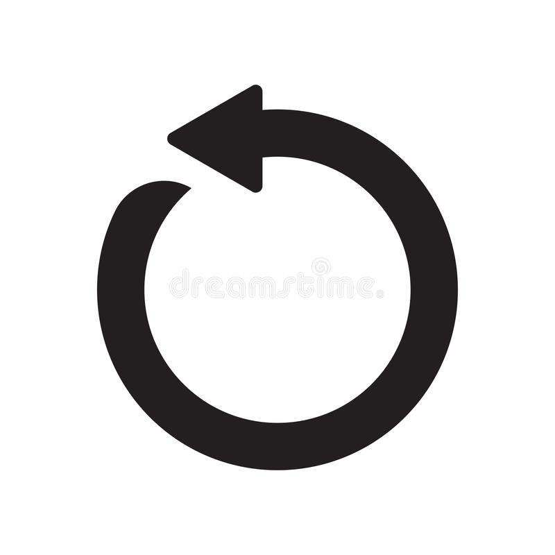 Circular arrow icon vector sign and symbol isolated on white background, Circular arrow logo concept royalty free illustration
