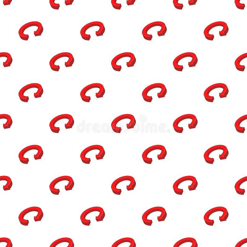 Circular arrow pattern, cartoon style. Circular arrow pattern. Cartoon illustration of circular arrow vector pattern for web vector illustration