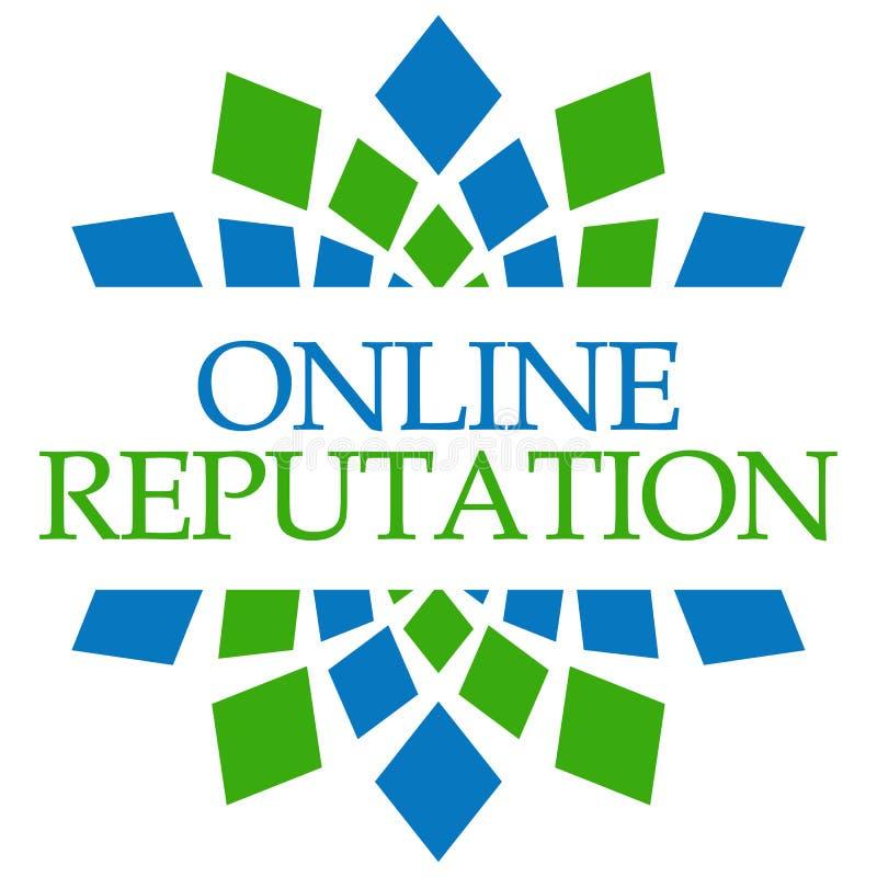 Circular azulverde de la reputación en línea ilustración del vector