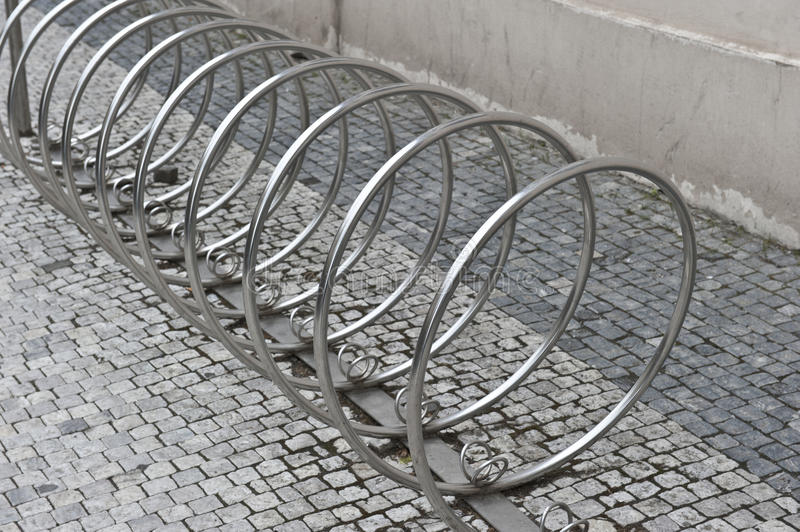 Circular Bike Rack Stock Image Image Of Park Gray Pavement