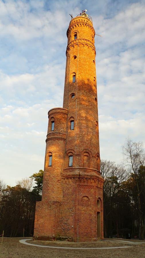Circular brick watch tower stock photography