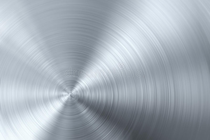 Circular brushed metal royalty free illustration