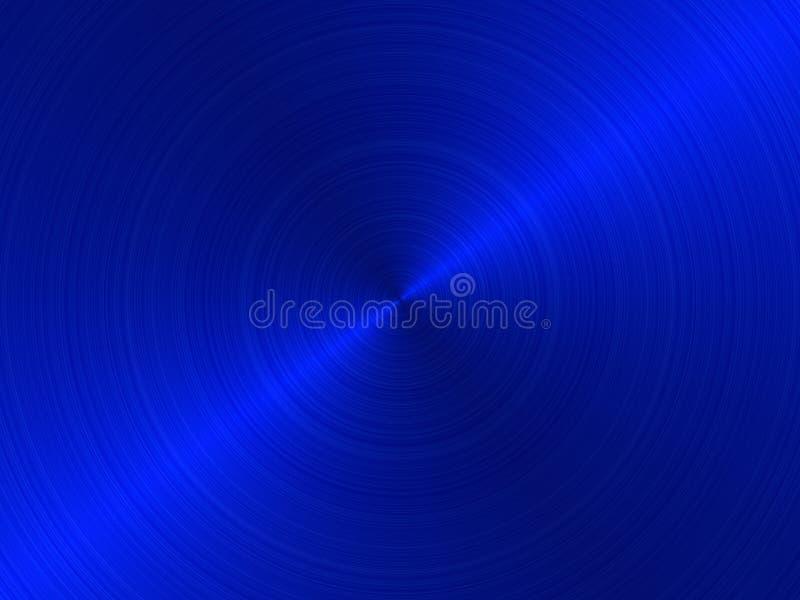Circular brushed metal -BLUE stock illustration