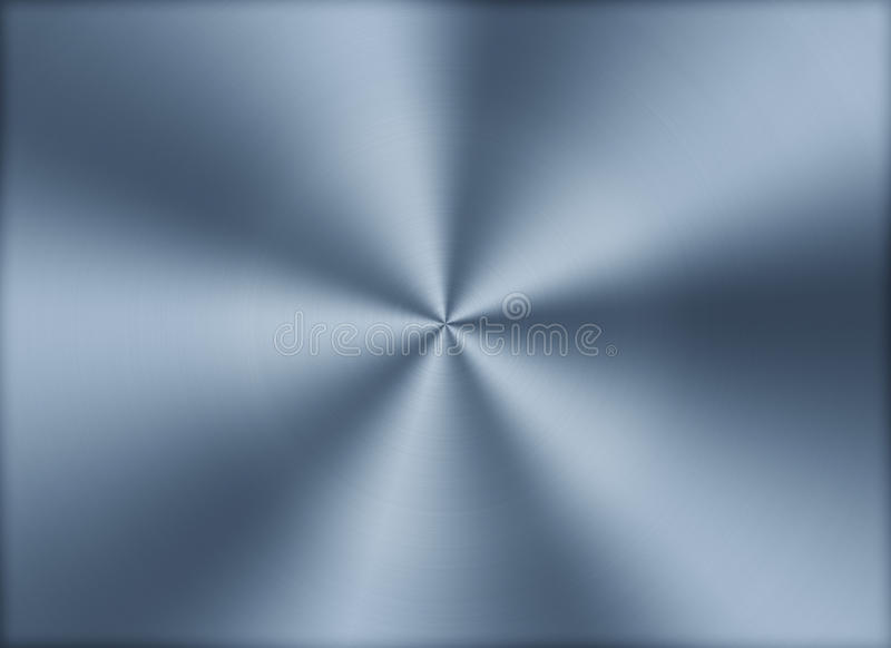 Circular brushed metal texture background stock illustration