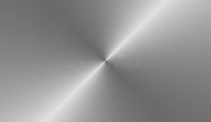 Circular brushed metal vector illustration