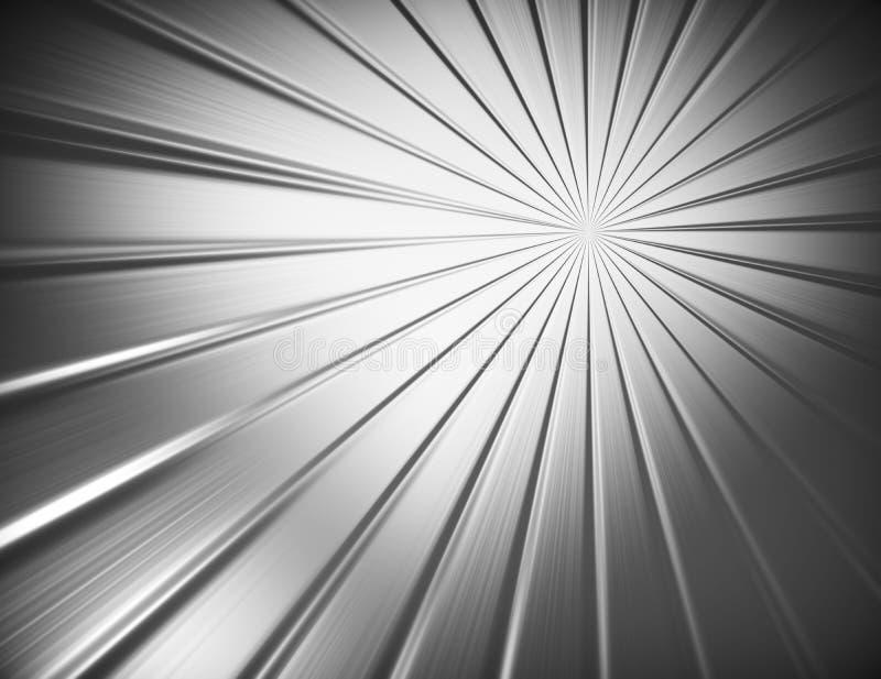Circular brushed metal texture royalty free illustration