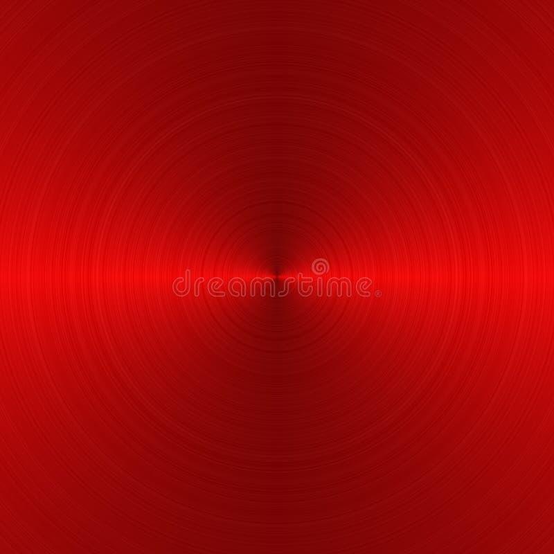 Circular brushed metallic background. With seamless metal texture