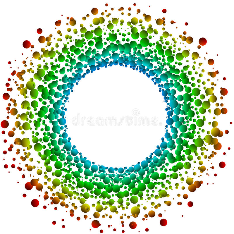 Circular bubbles frame invitation card stock illustration