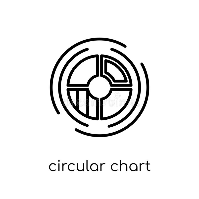 Circular chart icon. Trendy modern flat linear vector Circular c stock illustration