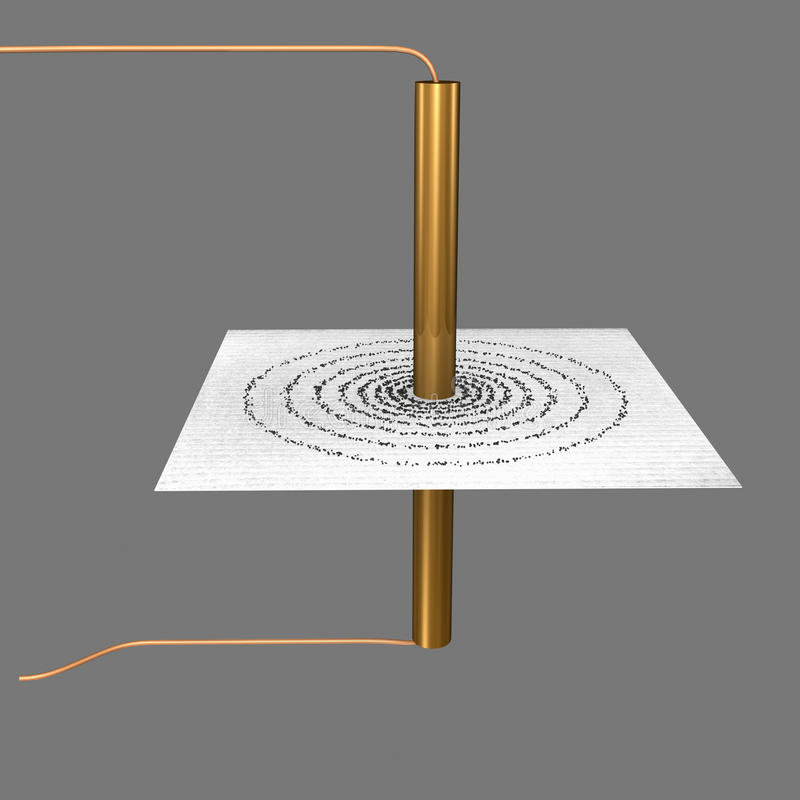 Circular coil. A Helmholtz coil is a device for producing a region of nearly uniform magnetic field, named after the German physicist Hermann von Helmholtz vector illustration
