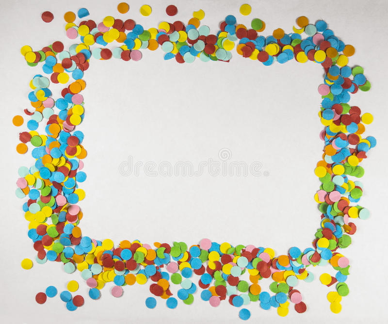 Circular Confetti Frame royalty free stock photos