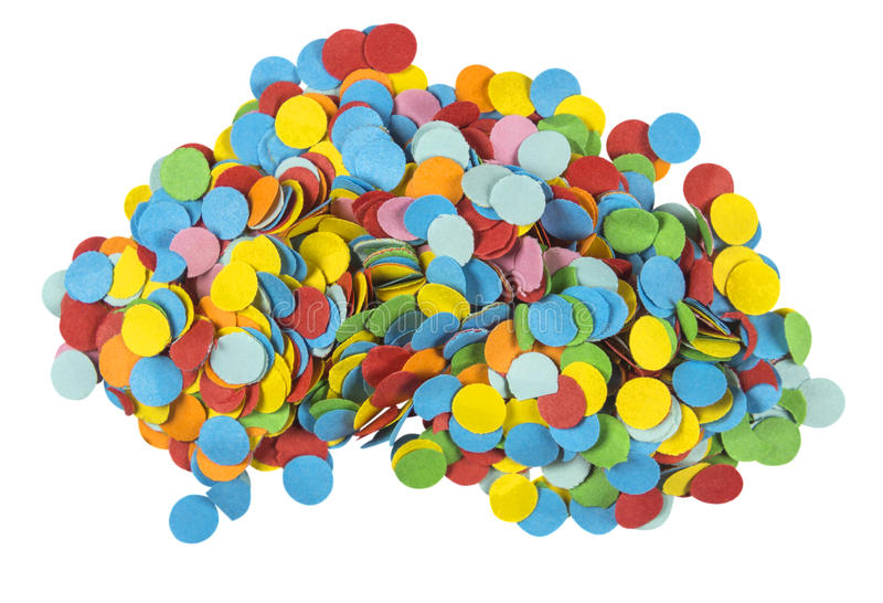 Circular Confetti Heap royalty free stock photography