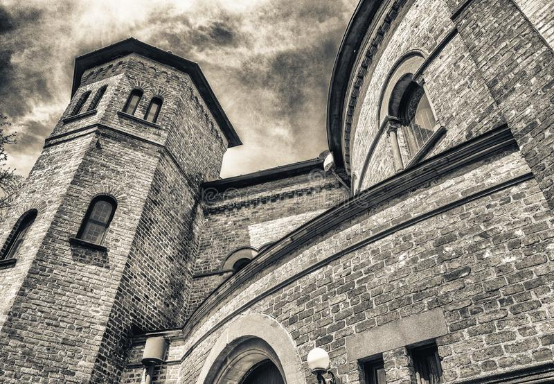 Circular Congregational Church exterior view, Charleston.  royalty free stock photography