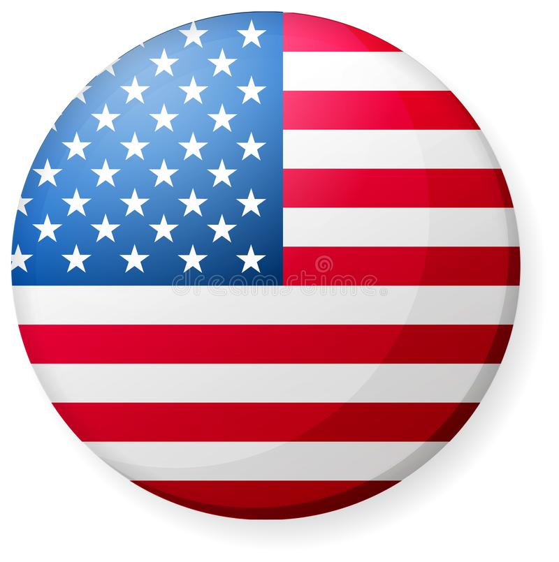 Free Circular Country Flag Icon Illustration / USA, America, Stars And Stripes. Royalty Free Stock Images - 163375959
