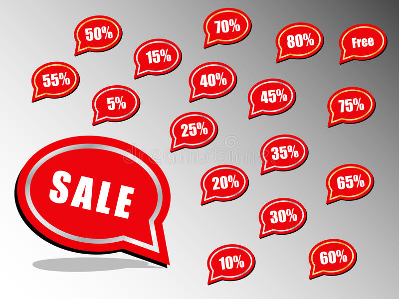 Circular discount call out royalty free stock images