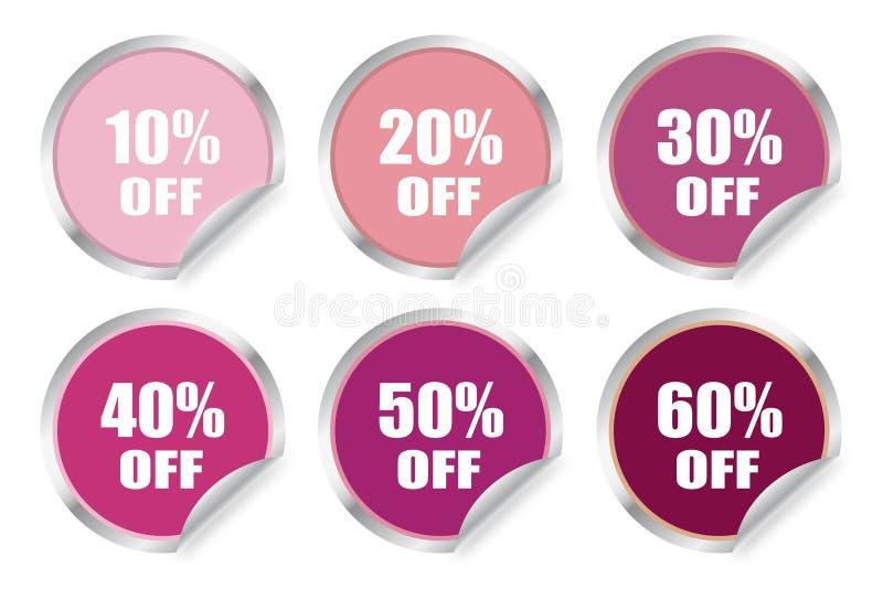 Circular discount sticker stock photo