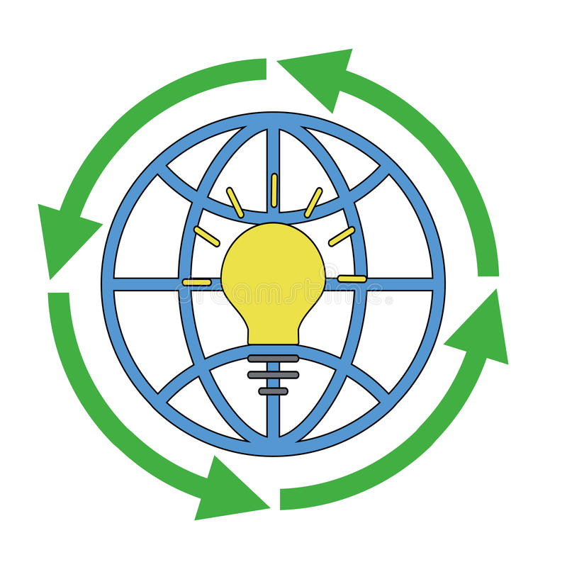 Circular economy product and material flow vector illustration